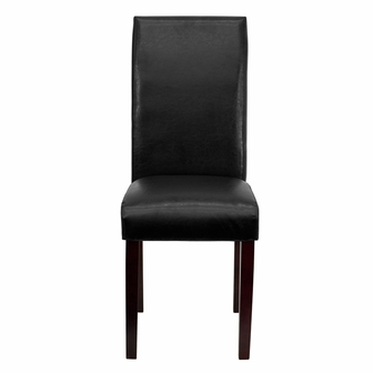 Black leather parsons chair bt 350 bk lea 023 gg by flash for Black leather parsons chairs