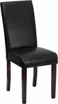 Black Leather Parsons Chair [BT-350-BK-LEA-023-GG]