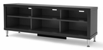 Series 9 Designer 55''W TV Stand with Adjustable Legs - Black [BCAL-0508-1-FS-PP]