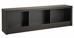 Series 9 Designer 61.5''W Storage Bench with 3 Open Storage Compartments - Black [BUBD-0500-1-FS-PP]
