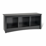 Sonoma 48''W Cubbie Bench with 3 Open Storage Compartments - Black [BSC-4820-FS-PP]