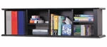 Sonoma 48''W Wall Mounted Desk Hutch with 6 Open Storage Compartments - Black [BHD-1348-FS-PP]