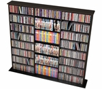 Triple Width Wall Storage with 19 Adjustable Shelves - Black [BMA-0960-FS-PP]