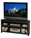 Vasari 48''W Corner Flat Panel TV Console with 6 Open Storage Compartments - Black [BCV-4722-FS-PP]