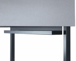 Black Wire Management Tray for Maximum Privacy Carrel - 32''W x 5''H [01654-SCI]