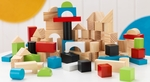 Early Childhood Development Wooden Building Block Set Includes 100 Blocks [63242-FS-KK]