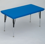 Blow-Molded Rectangular Plastic Top Activity Table - 24''D x 48''W [AR2448-REC-CRL]