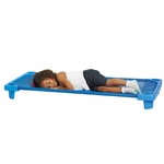 Blue Fully Assembled Single Standard Stackable Streamline Cot - 52''D x 23''W x 5''H [ELR-16123-ECR]