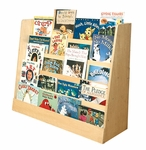 Birch Single Sided Book Display with Five Easy Reach Shelves - Natural [ELR-0339-ECR]