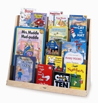 Birch Laminate Book Display Stand with 5 Overlapping Shelves [WB0136R-FS-WBR]