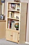 Rustic Style 31''W x 60''H Solid Pine Bookcase - Desert Sand [3524485-FS-CHEL]