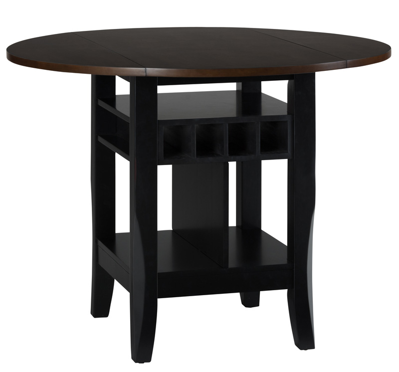 Braden birch 48 39 39 round counter height table with drop for Table 6 4 minimum exhaust rates