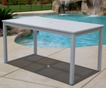 Bradley Outdoor 31''W x 59''D Dining Table with Straight Legs - White [V1336-FS-VIF]