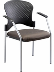 Breeze 25'' W x 21'' D x 33.75'' H Side Chair without Casters - Fabrix with Gray Frame [FS8277-FAB-FS-EURO]