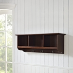 Brennan Entryway Storage Shelf in Mahogany [CF6004-MA-FS-CRO]