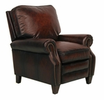 Briarwood All Leather Power Recliner - Stetson Bordeaux [9-4490-5407-17-FS-BAR]