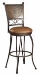 Bronze with Muted Copper Stamped Back Bar Stool - 30'' Seat Height [222-847-FS-PO]