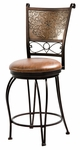 Bronze with Muted Copper Stamped Back Counter Stool - 24'' Seat Height [222-918-FS-PO]