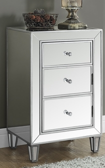 accent chest with mirror finish brushed silver i3706fsmsp