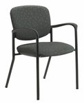 Brylee™ Stacking Guest Chair with Four Legged Base - Set of Two - Black Frame [BR31-E3-DP-FS-UC]