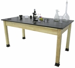 BS-PH Series Chemical Resistant Science Table with Solid Phenolic Resin Top [BS2448PH-AP]
