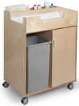 Budget Changing Table with End Access and Ample Space for Waste Basket [WB0634-FS-WBR]