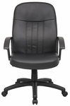 Budget Executive LeatherPlus Chair with Arms - Black [B8106-FS-BOSS]