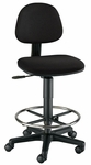 Budget Adjustable Height Drafting Task Chair - Black [CH222-40DH-FS-ALV]