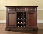 Buffet Server / Sideboard Cabinet with Wine Storage in Vintage Mahogany Finish with LaFayette Style Feet [KF42001BMA-FS-CRO]