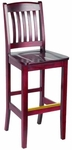 Bulldog Bar Stool - Wood Seat [BULLDOG-BAR-STOOL-FS-HSAG]