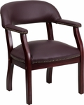 Burgundy Top Grain Leather Conference Chair [B-Z105-LF19-LEA-GG]