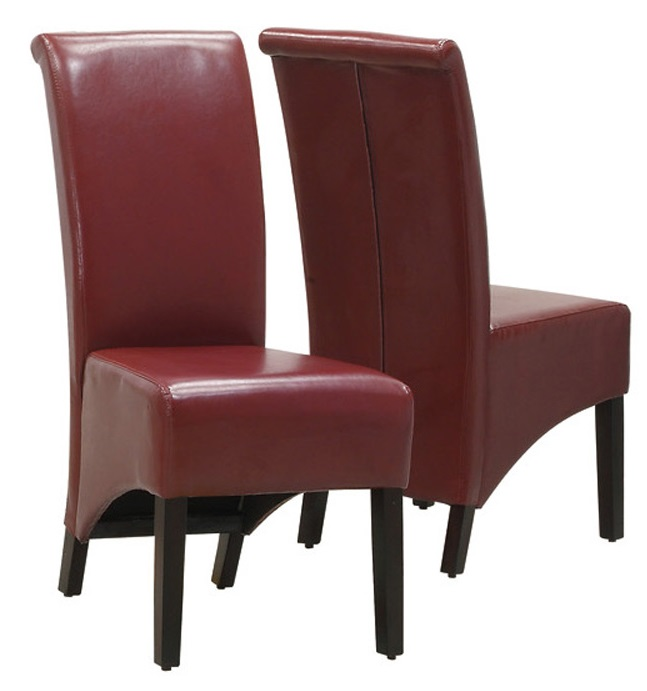 High back faux leather 40 39 39 h parson chairs with solid wood for High back parsons chair