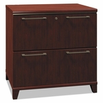 Bush® Enterprise Collection 30W Two-Drawer Lateral File - Harvest Cherry [BSH2954CS03-FS-NAT]