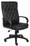 High Back Button Tufted Executive Chair - Black [B8501-BK-FS-BOSS]