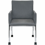 Bux Side Chair on Casters [BX1200-FS-DV]