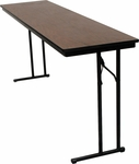 C-Leg Rectangular Training Table with Bumper T Molding and Laminate Top - 18''W x 60''D x 30''H [DLCLEG1860-MFC]