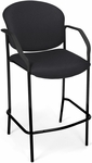 Manor Cafe Height Fabric Chair with Arms - Black [404C-805-MFO]