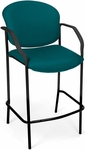 Manor Cafe Height Fabric Chair with Arms - Teal [404C-802-MFO]
