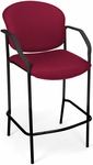 Manor Cafe Height Fabric Chair with Arms - Wine [404C-803-MFO]