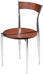 Cafe Twist Maple Chair with Ply Wood Back and Ply Wood Seat [194-MTS]