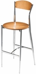 Cafe Twist Maple Ply Wood Back and Ply Wood Seat Barstool [195-30-MTS]