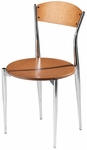 Cafe Twist Maple Ply Wood Back and Ply Wood Seat Chair [195-MTS]