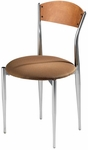 Cafe Twist Maple Ply Wood Back and Upholstered Seat Chair [195-UPS-MTS]