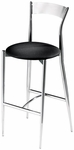 Cafe Twist Metal Back and Upholstered Seat Barstool [193-30-MTS]