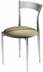 Cafe Twist Metal Back and Upholstered Seat Chair [193-MTS]