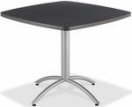 CafeWorks Cafe 36'' Square Table - Graphite Granite [65618-ICE]