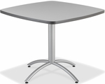 CafeWorks Cafe 36'' Square Table - Gray [65617-ICE]