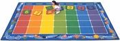 Days of the Week Calendar Rectangular Nylon Rug with Month Border - 90''W x 144''D