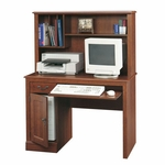 Camden County 43''W x 56''H Wooden Computer Desk and Hutch with Adjustable Shelf - Planked Cherry [101736-FS-SRTA]