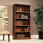 Camden County 36''W x 72''H Wooden Bookcase with 3 Adjustable Shelves - Planked Cherry [101785-FS-SRTA]